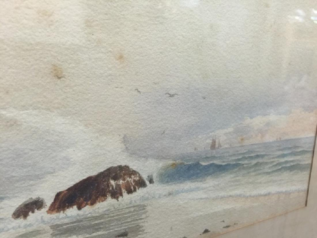 Coastal Watercolor Signed J. B. Foster Dated 1887 - 5
