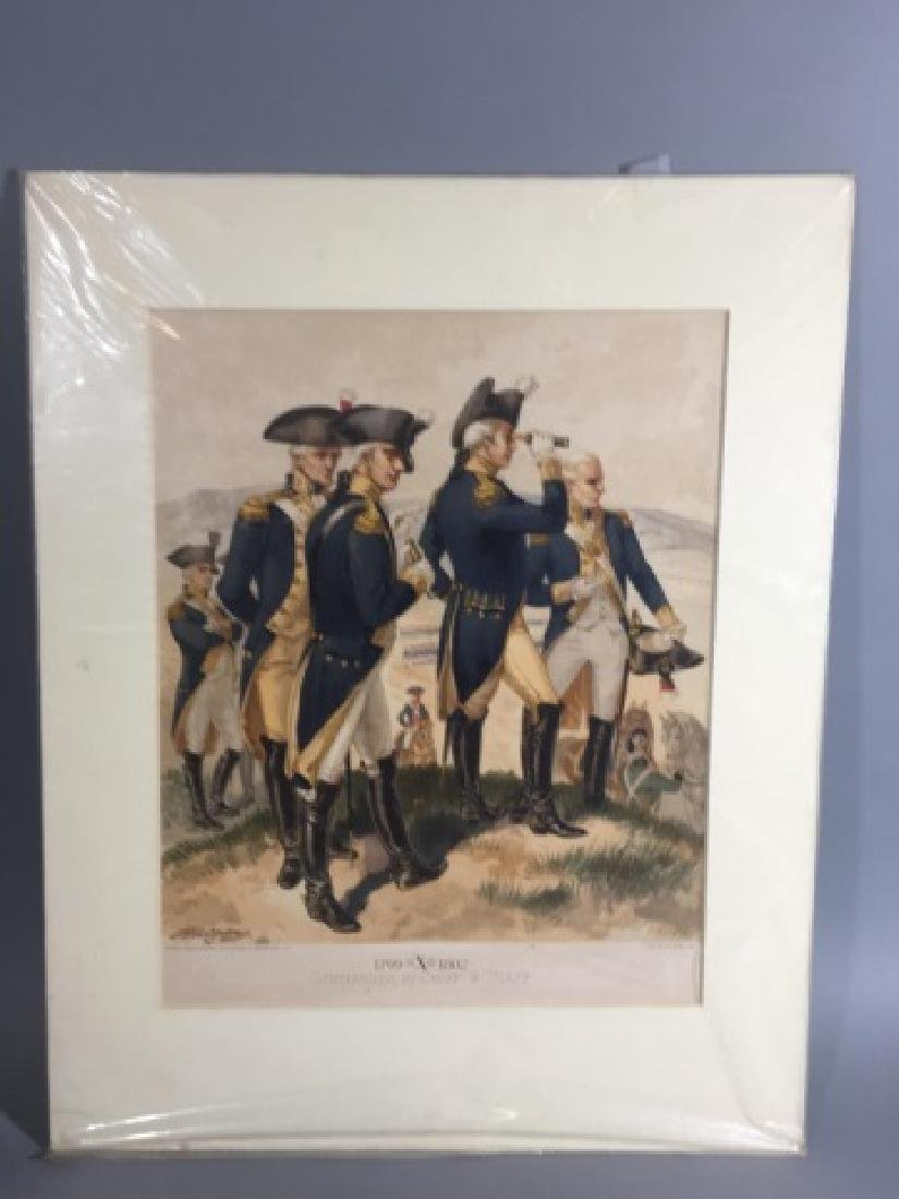7 Antique Color Lithographs of Military Uniforms - 2