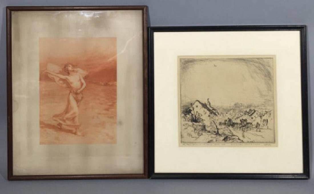 Two Antique Engravings by Cornillier & Hornby