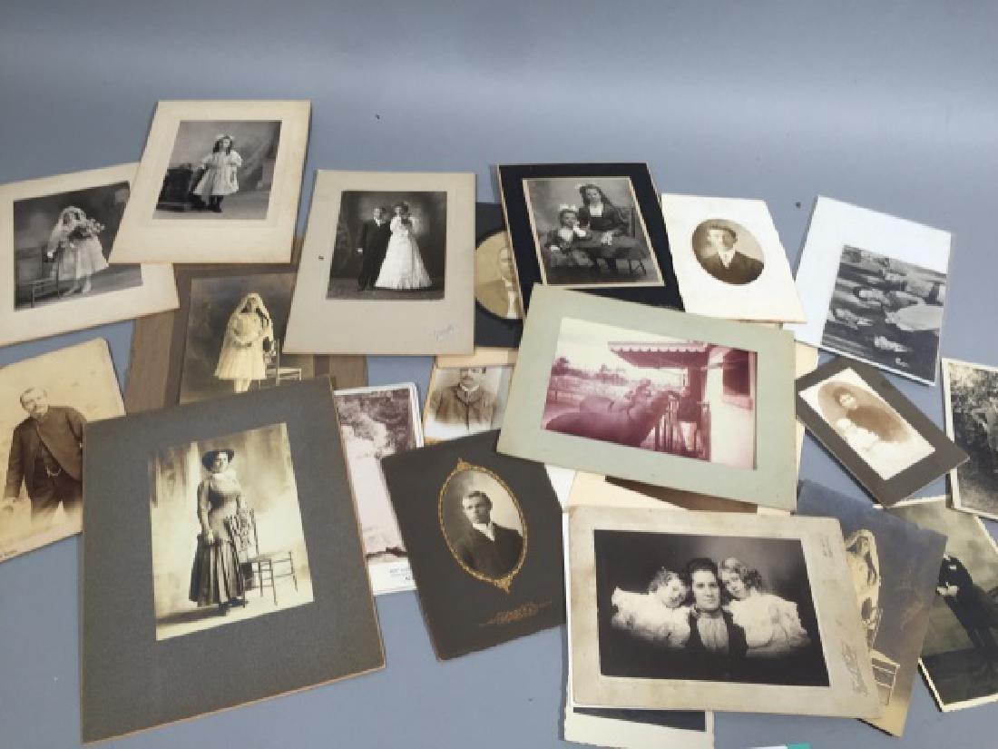 Group Antique Photographic CDV Portraits c. 1900