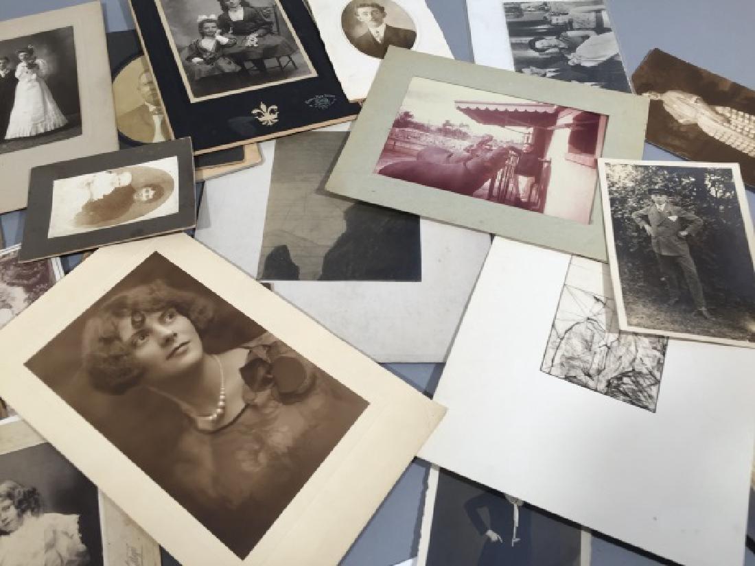 Group Antique Photographic CDV Portraits c. 1900 - 2