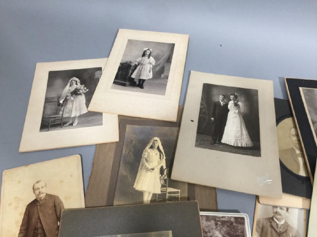 Group Antique Photographic CDV Portraits c. 1900 - 3
