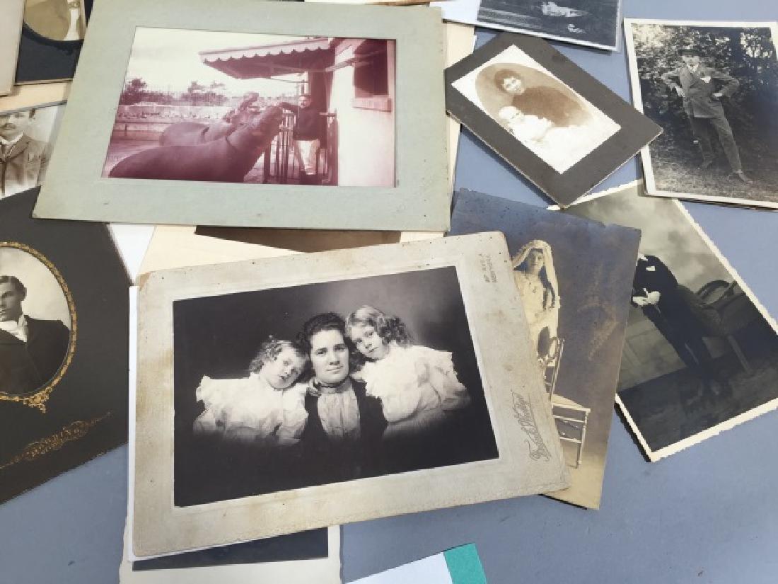 Group Antique Photographic CDV Portraits c. 1900 - 5