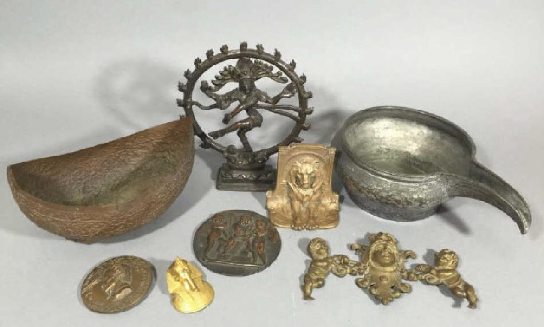 Group Cast Metal Items from Medallions to Deities