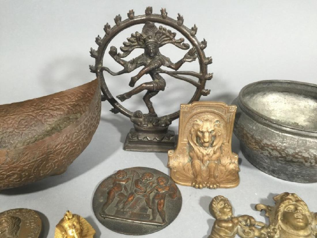 Group Cast Metal Items from Medallions to Deities - 5