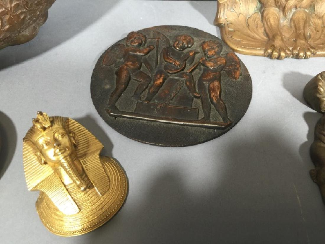 Group Cast Metal Items from Medallions to Deities - 7
