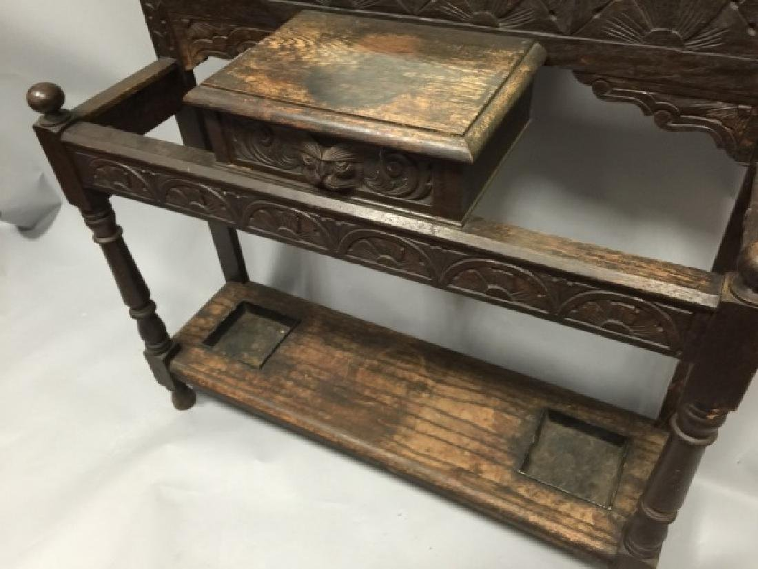 Antique Victorian Hall Stand in RJ Horner Style - 3