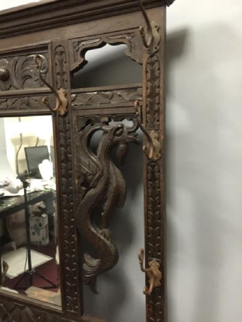 Antique Victorian Hall Stand in RJ Horner Style - 4