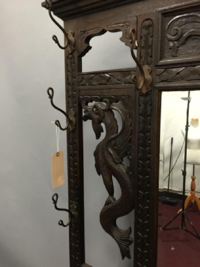 Antique Victorian Hall Stand in RJ Horner Style - 5