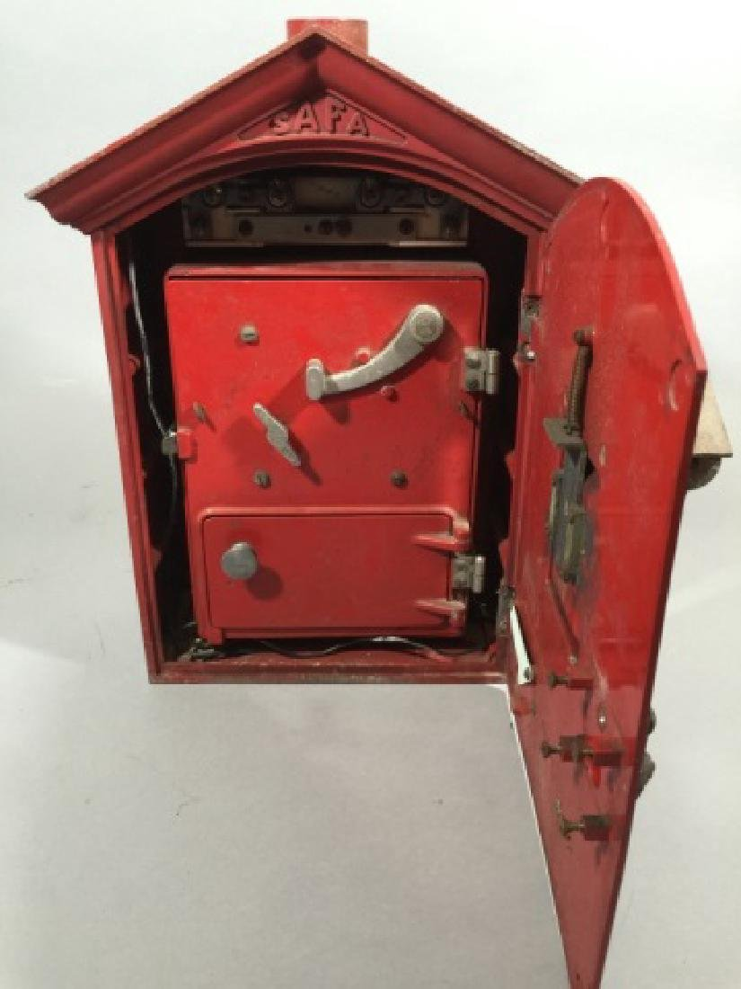 Antique Cast Iron Red Fire Call Box w Telegraph - 2