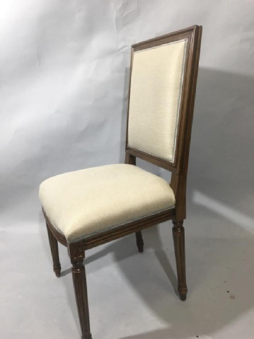 Pair French Louis XVI Style Upholstered Chairs - 4