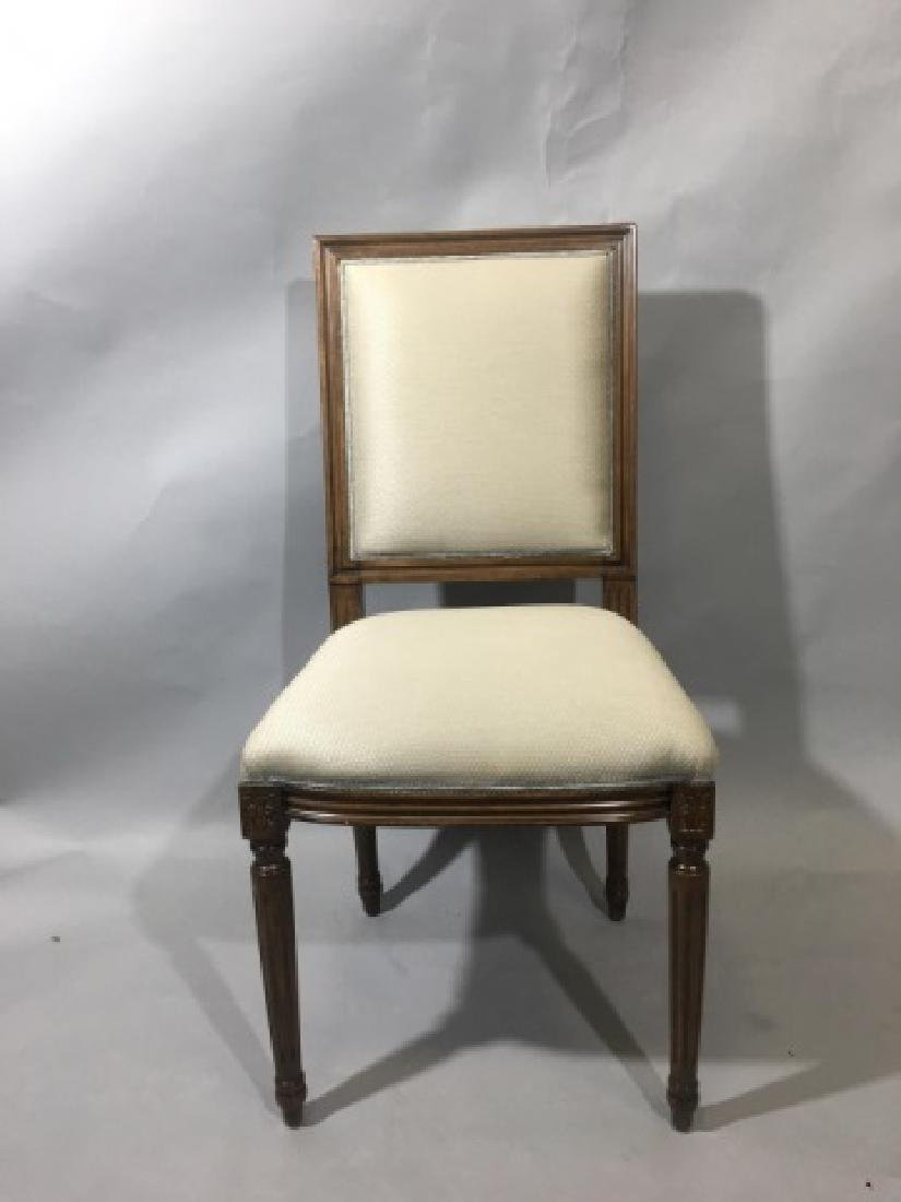 Pair French Louis XVI Style Upholstered Chairs - 7