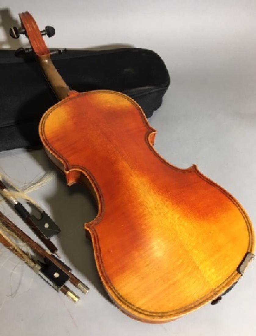 Violin with Black Case and 3 Bows - 3