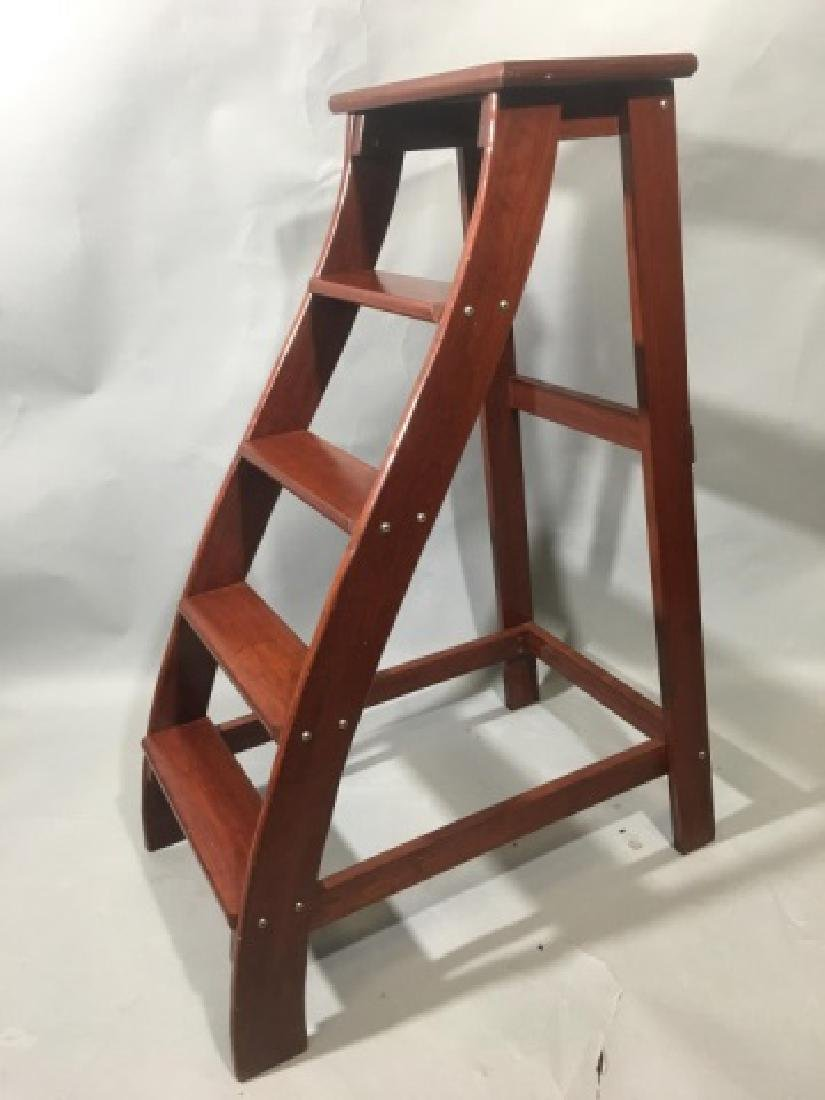 Putnam-Brand Mahogany Library-Style Steps/Stand