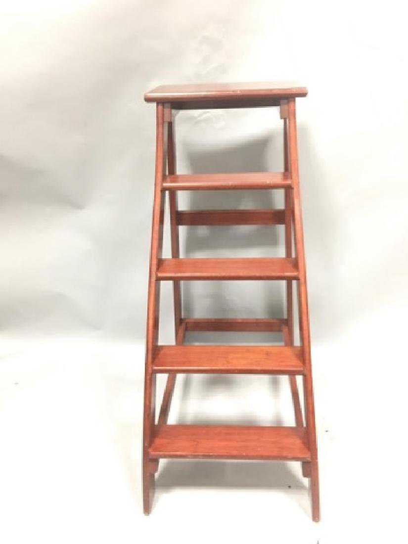 Putnam-Brand Mahogany Library-Style Steps/Stand - 3