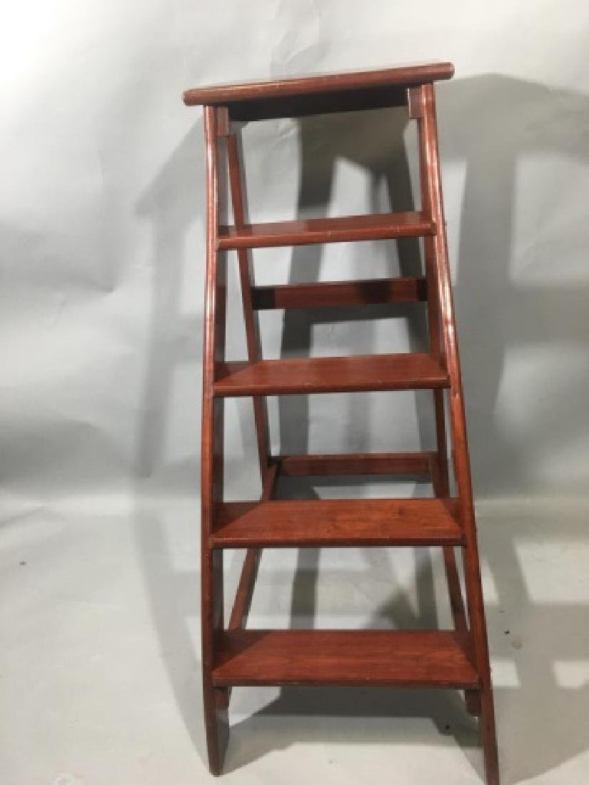 Putnam-Brand Mahogany Library-Style Steps/Stand - 4