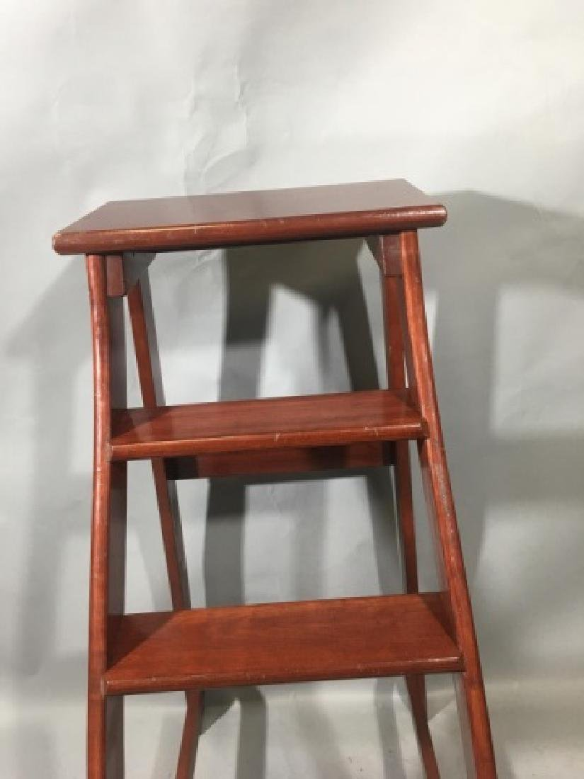 Putnam-Brand Mahogany Library-Style Steps/Stand - 5
