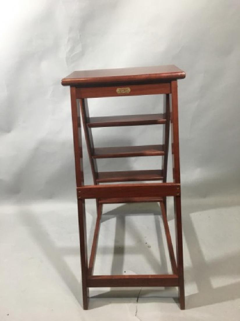 Putnam-Brand Mahogany Library-Style Steps/Stand - 6