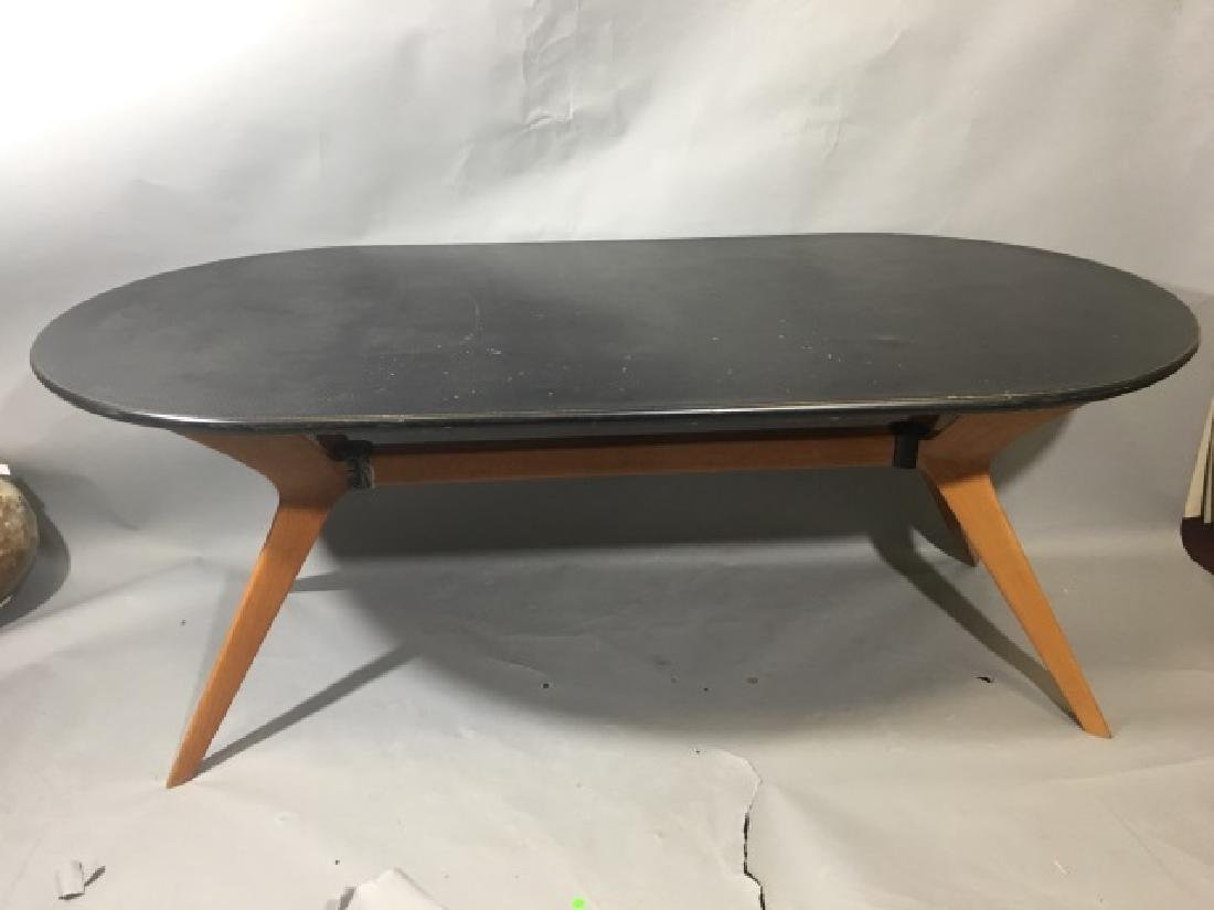 Modern Knoll Dining Table-Cherry Base, Plastic Top