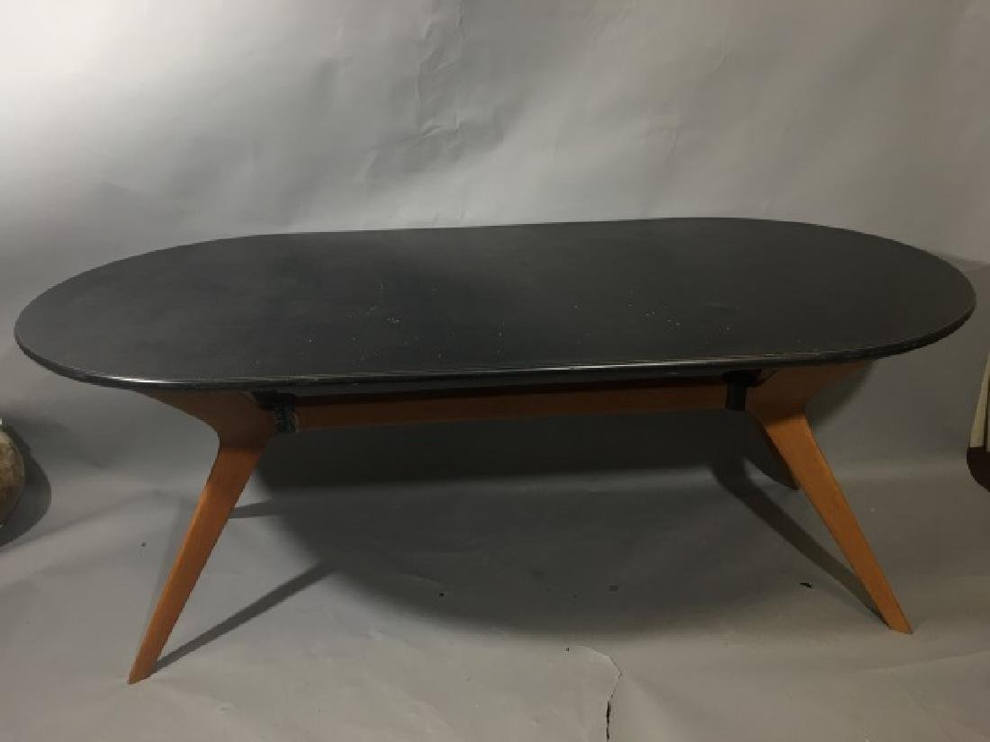 Modern Knoll Dining Table-Cherry Base, Plastic Top - 5