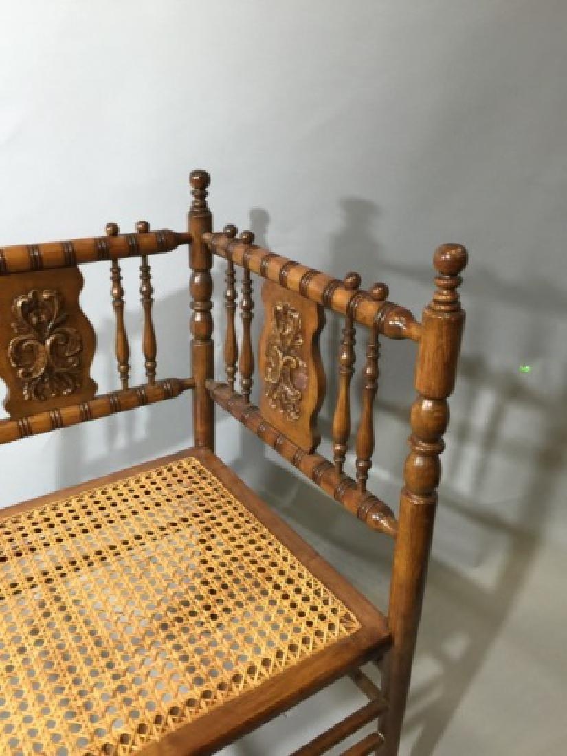 Victorian Fretwork Caned Corner Chair - 3