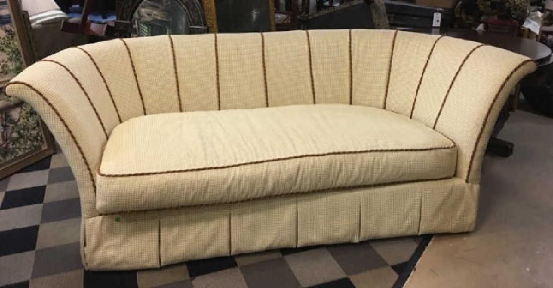 Large Elegant Henredon Demi-Lune Sofa Settee