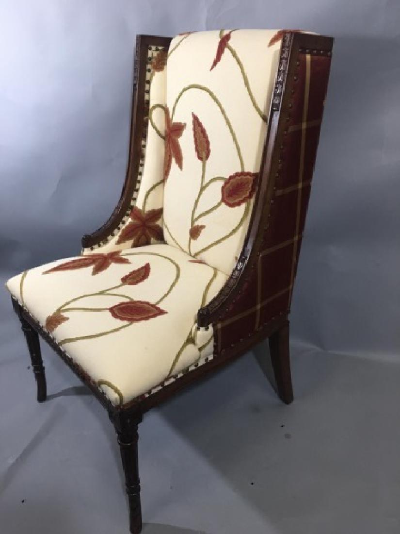 Elegant Henredon Lasker Arm Chair w Crewel Fabric - 2
