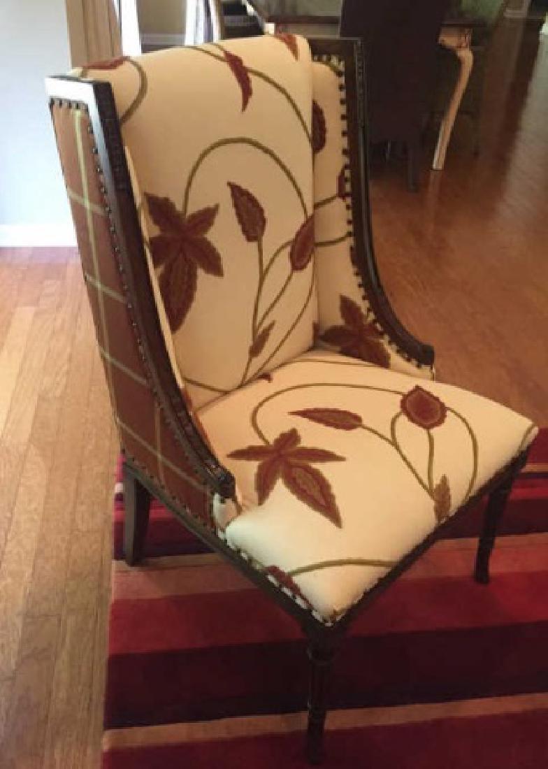 Elegant Henredon Lasker Arm Chair w Crewel Fabric - 3