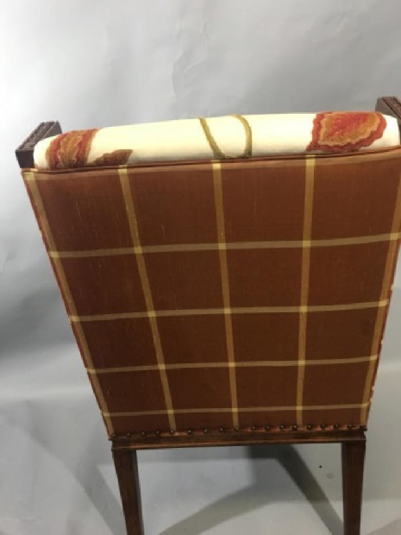 Elegant Henredon Lasker Arm Chair w Crewel Fabric - 4