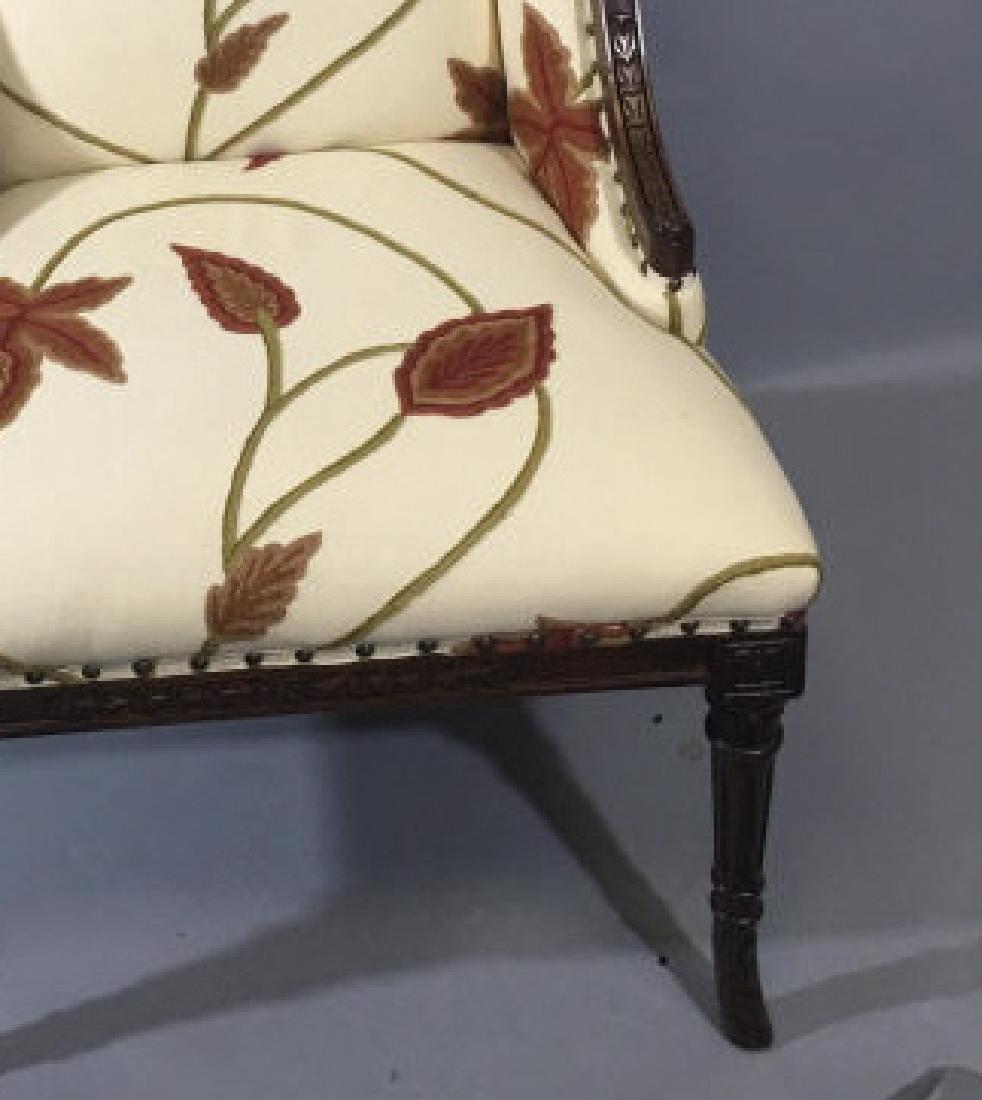 Elegant Henredon Lasker Arm Chair w Crewel Fabric - 5