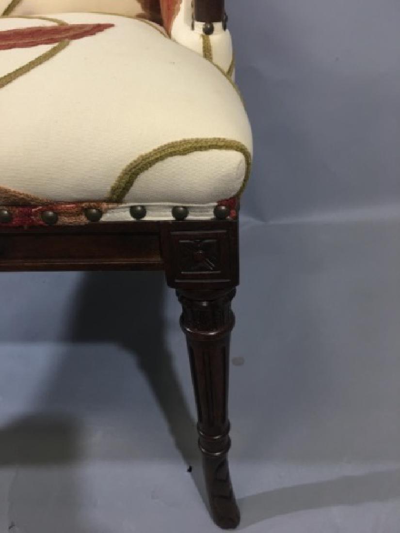 Elegant Henredon Lasker Arm Chair w Crewel Fabric - 7