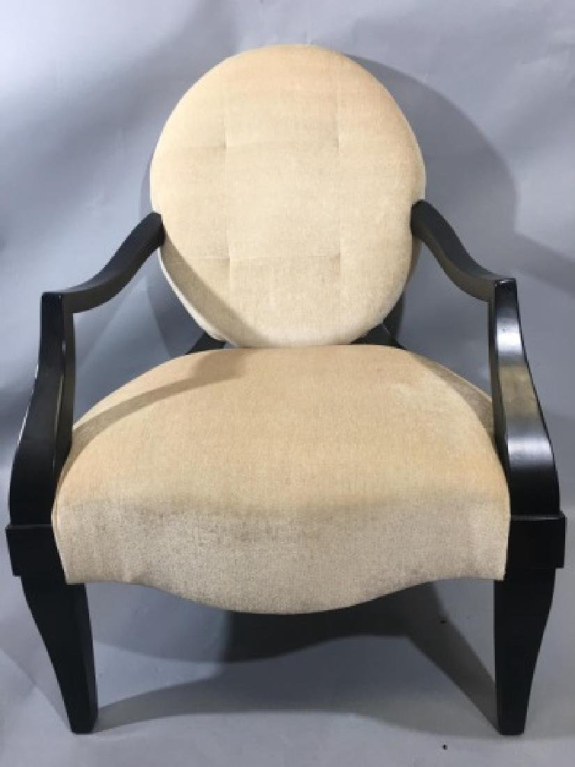 Balloon Back Upholstered Arm Chair by Henredon
