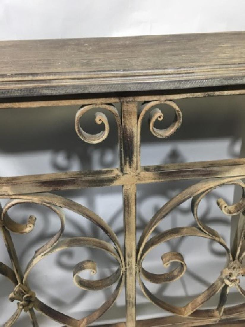 Contemporary Wood & Iron Console Buffet Server - 2