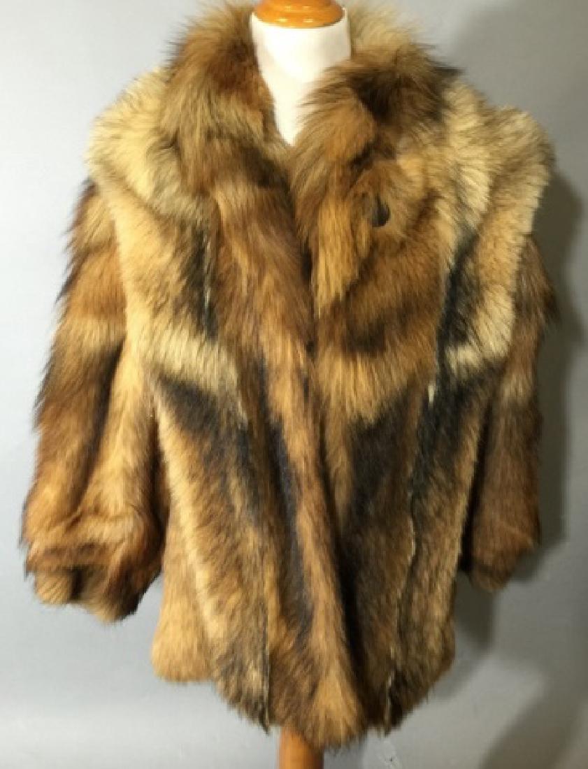 Vintage Red Fox Fur Car Coat or Jacket