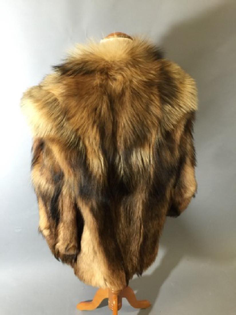 Vintage Red Fox Fur Car Coat or Jacket - 2