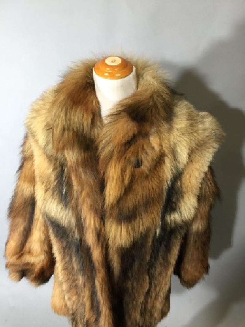 Vintage Red Fox Fur Car Coat or Jacket - 3