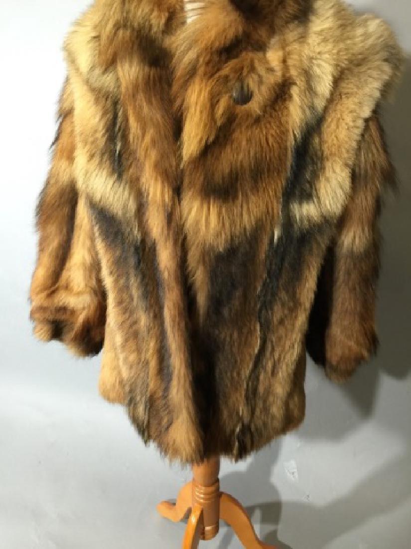Vintage Red Fox Fur Car Coat or Jacket - 4