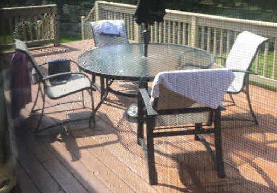 Glass Top Outdoor Patio Dining Table & 4 Chairs - 2