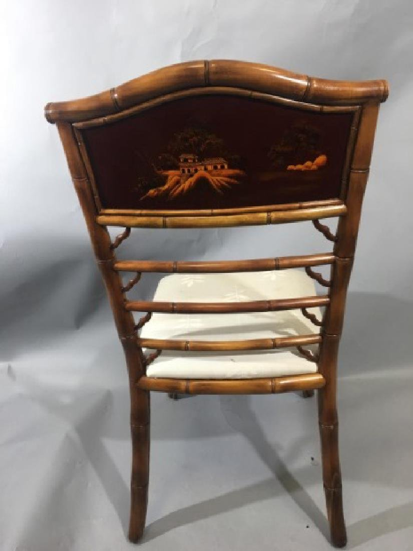 4 Bamboo Frame Chinese Style Dining Chairs - 7