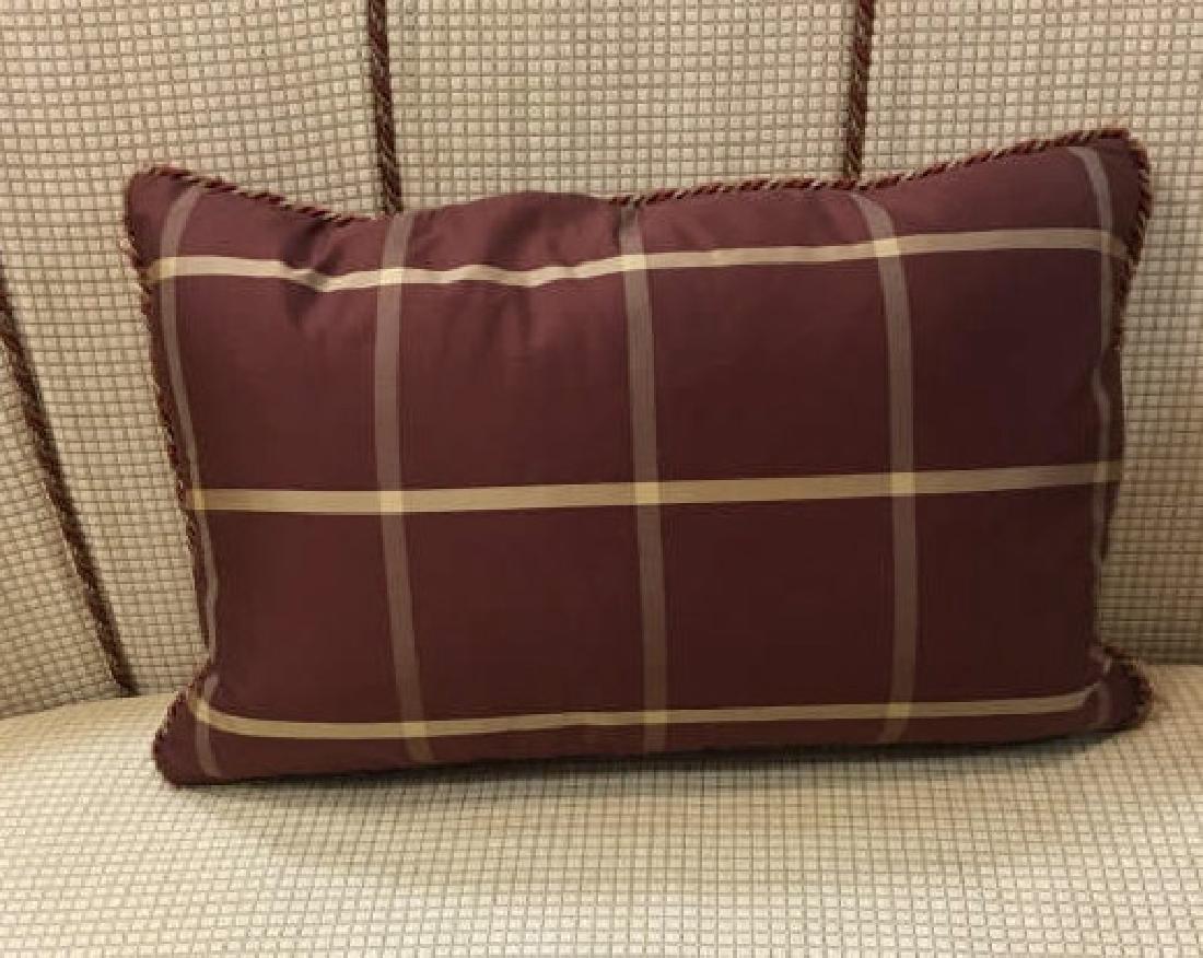 2 Elegant Euro Size Down Pillows & 1 Lumbar Pillow - 3