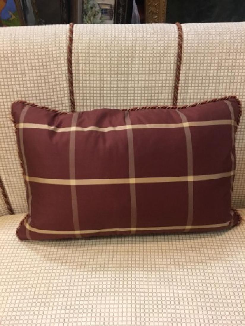 2 Elegant Euro Size Down Pillows & 1 Lumbar Pillow - 4