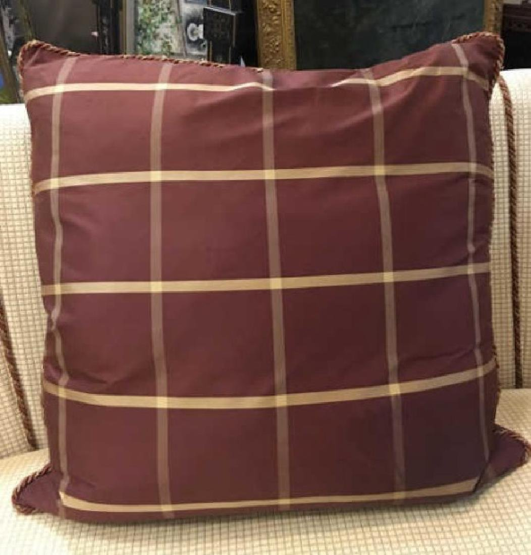 2 Elegant Euro Size Down Pillows & 1 Lumbar Pillow - 7