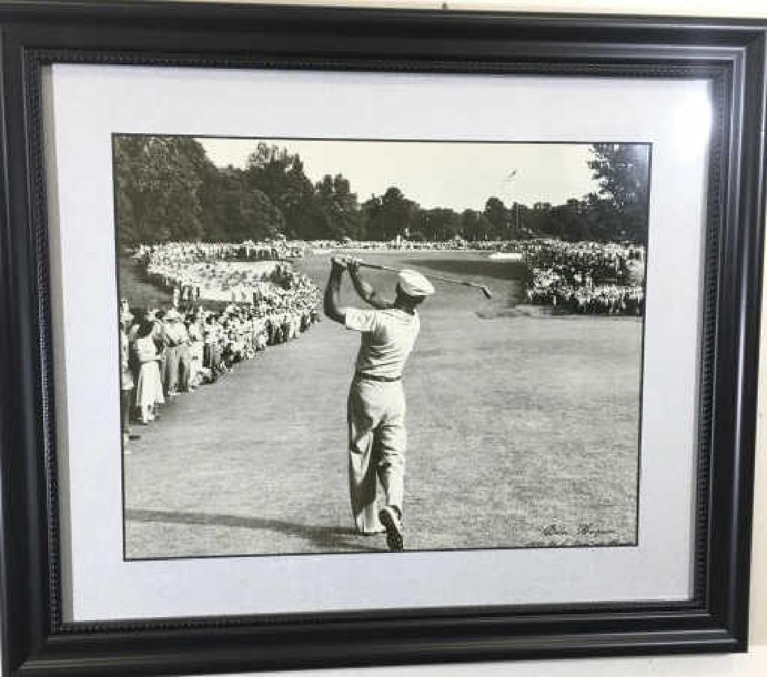 Framed 1950 B/W Photograph of Golfer Ben Hogan