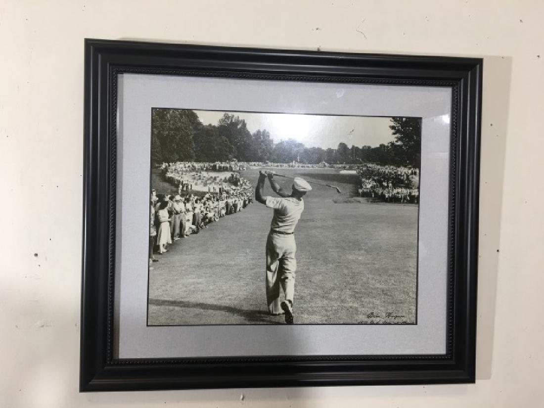 Framed 1950 B/W Photograph of Golfer Ben Hogan - 2