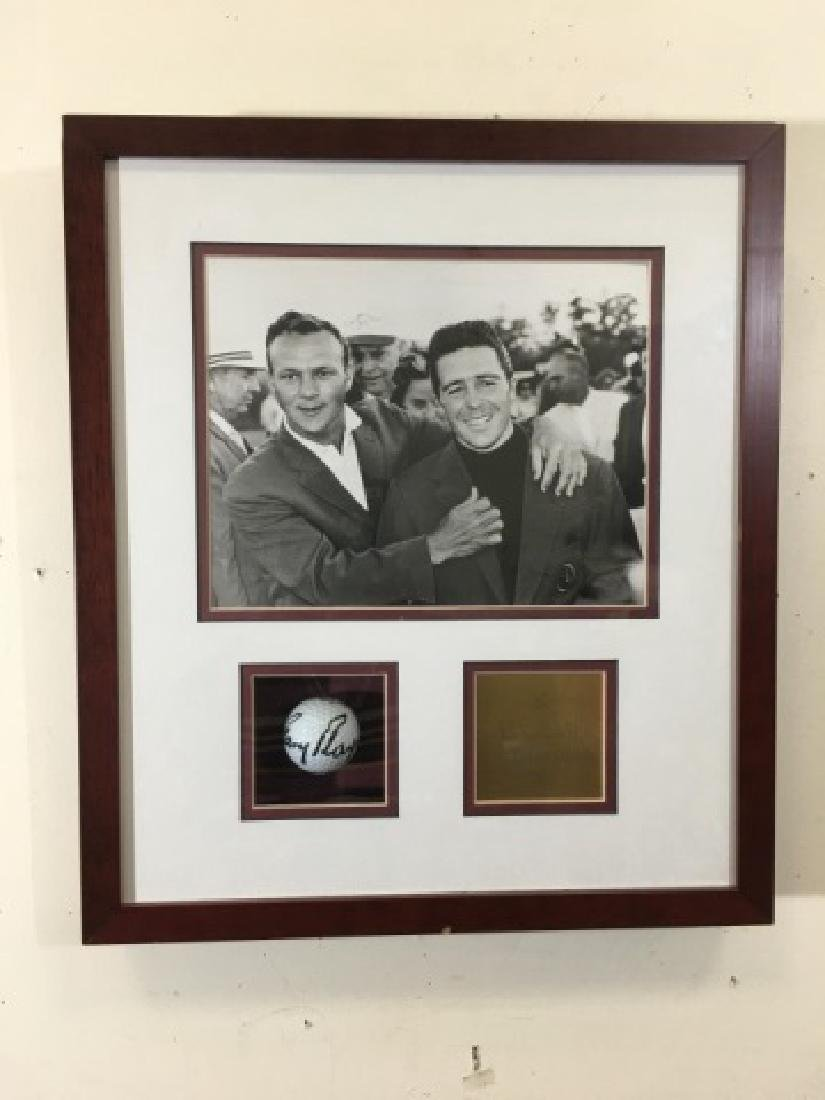Shadowbox of Gary Player-1961 Masters Signed Ball