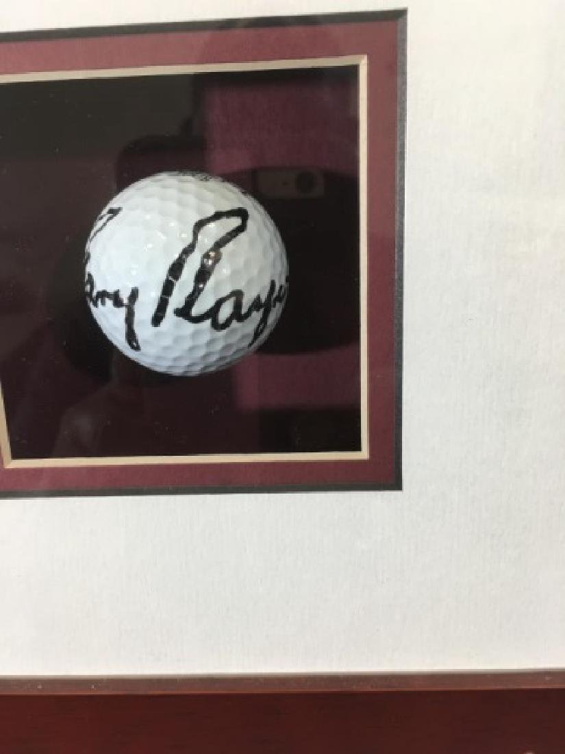 Shadowbox of Gary Player-1961 Masters Signed Ball - 3
