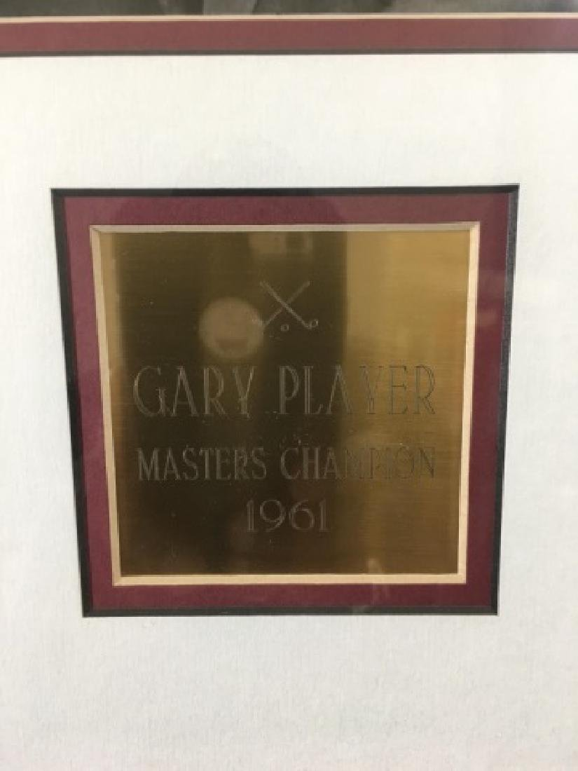 Shadowbox of Gary Player-1961 Masters Signed Ball - 4
