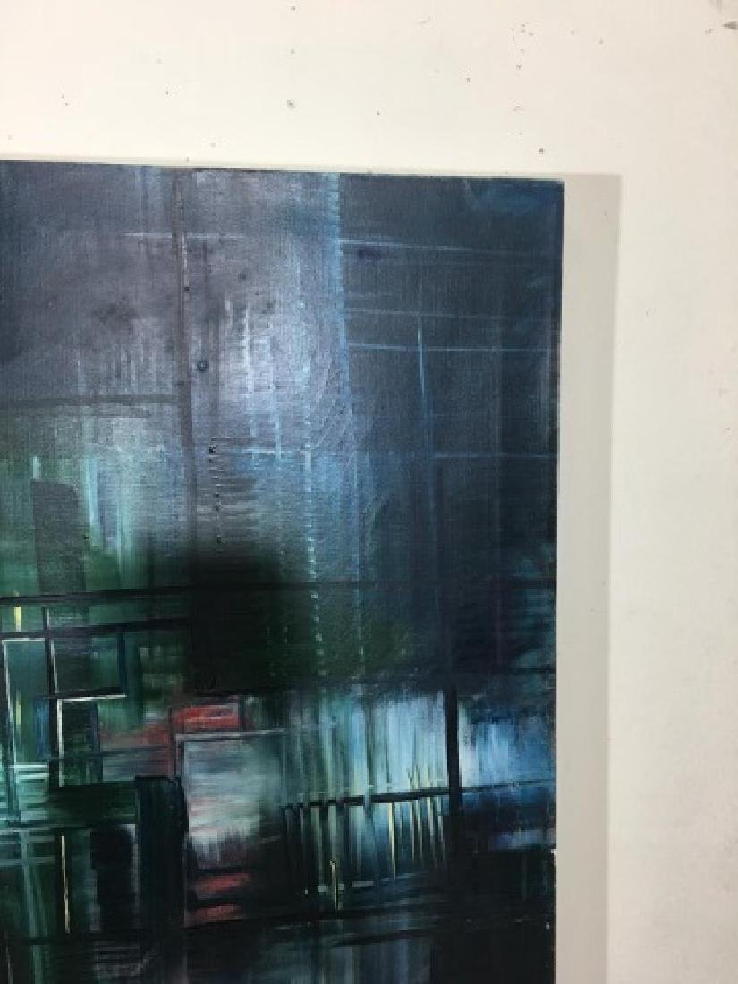 Saldarriaga Signed 1997 Modern Art Oil Painting - 5