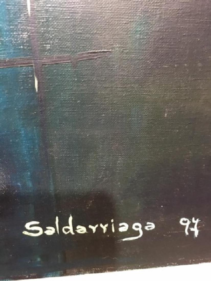 Saldarriaga Signed 1997 Modern Art Oil Painting - 6
