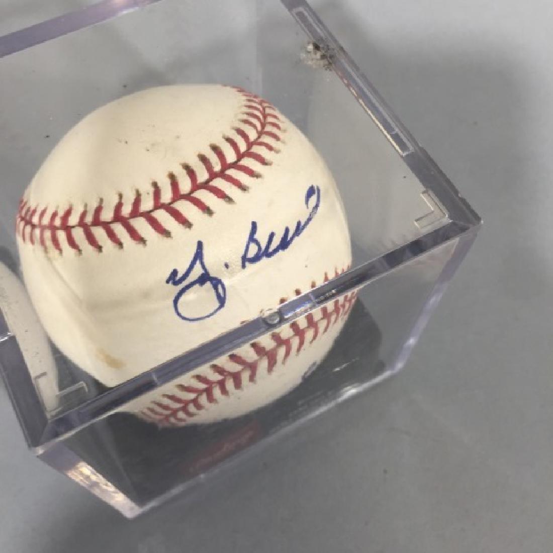Double-Signed Baseball : Whitey Ford & Yogi Berra - 2